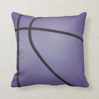 Purple Basketball Style Throw Pillow