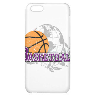 Purple Basketball T-shirts and Gifts Cover For iPhone 5C