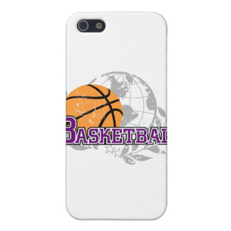 Purple Basketball T-shirts and Gifts Case For iPhone 5