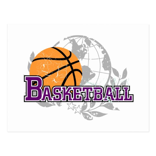 Purple  Basketball T-shirts and Gifts Postcard