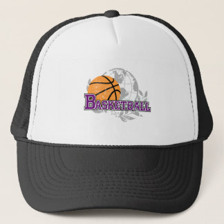 Purple  Basketball T-shirts and Gifts Trucker Hat