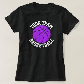 Purple Basketball Team, Player & Jersey Number Tee