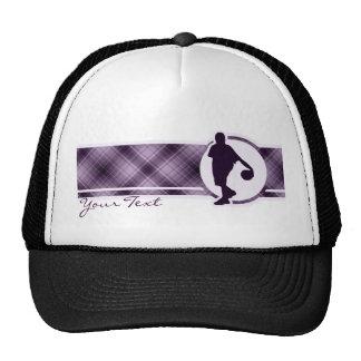 Purple Basketball Trucker Hat