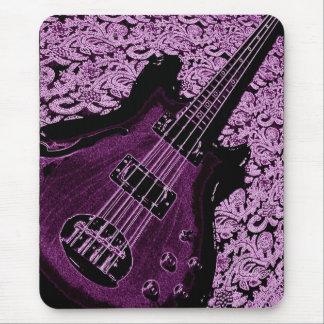 purple bass mouse pad