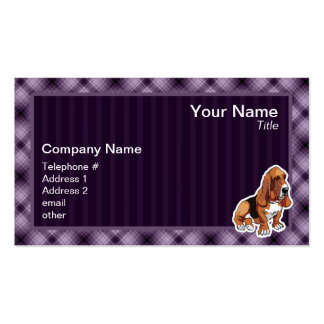 Purple Basset Hound Business Cards