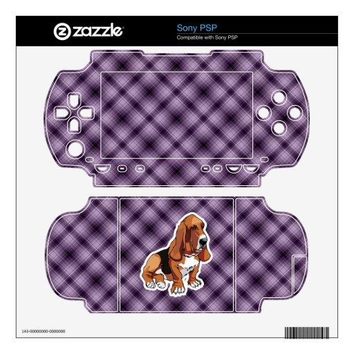 Purple Basset Hound Skins For PSP