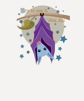 Purple Bat 3/4 Sleeve Tee