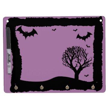 Halloween Themed Purple Bat Halloween White Board
