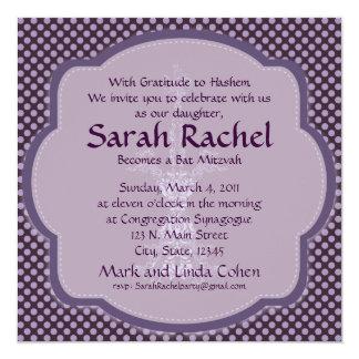 Purple Bat Invitation with damask candle