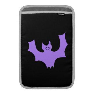 Purple Bat on Black. Sleeve For MacBook Air