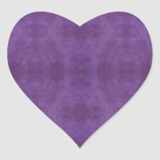 Purple Batik Heart Sticker