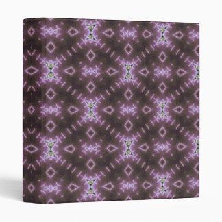 Purple batik pattern vinyl binders