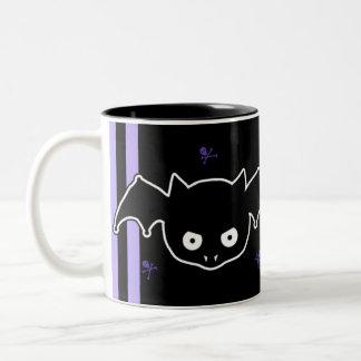 Purple Batty Two-Tone Coffee Mug