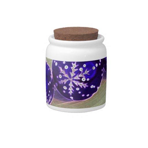 Purple Bauble Decorations Candy Jars