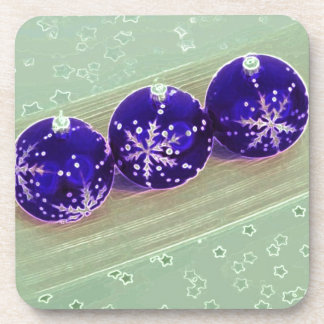 Purple Bauble Decorations Drink Coaster