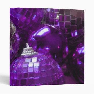 Purple Baubles binder