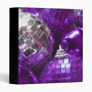 Purple Baubles binder black