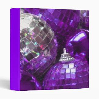 Purple Baubles binder purple