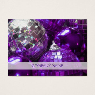 Purple Baubles business card template chubby