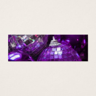 Purple Baubles business card template skinny