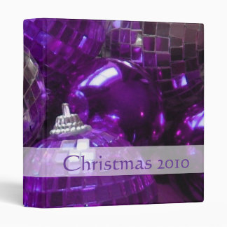 Purple Baubles 'Christmas 2010' binder front text