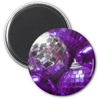 Purple Baubles fridge magnet