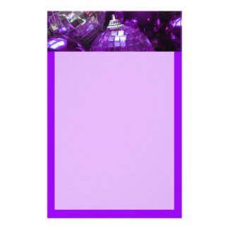 Purple Baubles header stationery purple