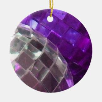 Purple Baubles mirror ball ornament
