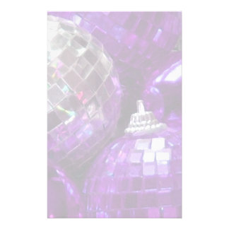 Purple Baubles stationery pale