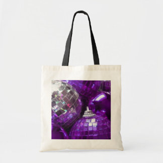 Purple Baubles tote bag