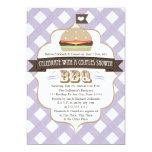 "Purple BBQ Couples Wedding Shower Invitations 5"" X 7"" Invitation Card"