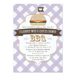 Purple BBQ Couples Wedding Shower Invitations