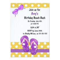 PURPLE Beach Party Invitations