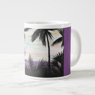purple beach scene for coffee or tea large coffee mug