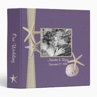 Purple Beach Starfish and Photos 3 Ring Binder