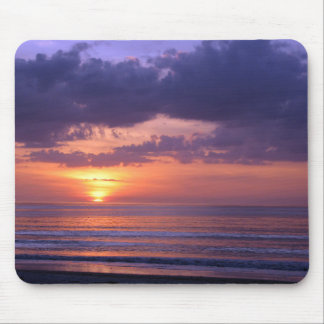 Purple Beach Sunset Mouse Pads