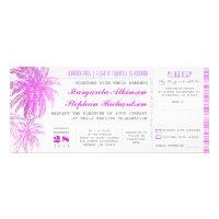 purple beach wedding tickets -boarding pass announcement (<em>$2.20</em>)