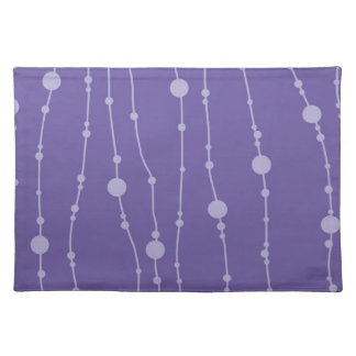 Purple Beads Cloth Placemat