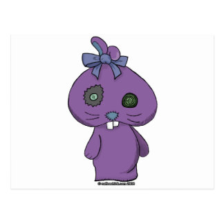 Purple Beanbag Bunny Postcard