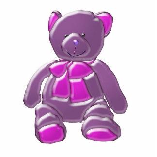 Purple Bear Cub Photo Statue