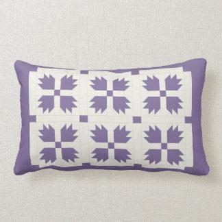 Purple Bear Paw Lumbar Pillow