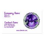 Purple Bearded Iris Business Card