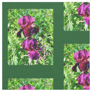Purple Bearded Iris Fabric