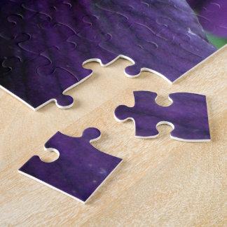 Purple Bearded Iris Flower Jigsaw Puzzle