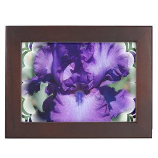 Purple Bearded Iris Memory Box