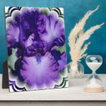 Purple Bearded Iris Plaque