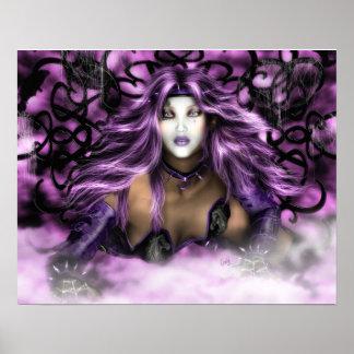 Purple Beauty - Fantasy Art Print