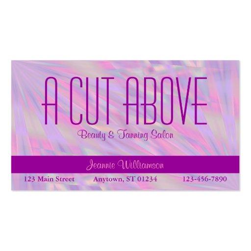 Purple Beauty Salon Business Card