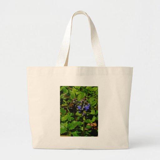 Purple Bee Balm and Bumble Bee Bag