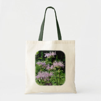Purple Bee Balm Floral Nature Tote Bag